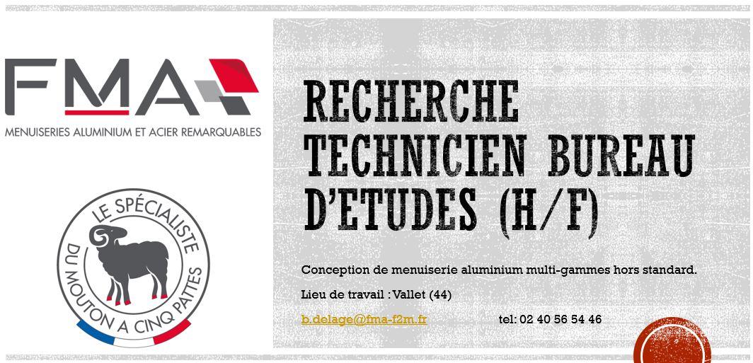 FMA- TECHNICIEN BUREAU D'ETUDES